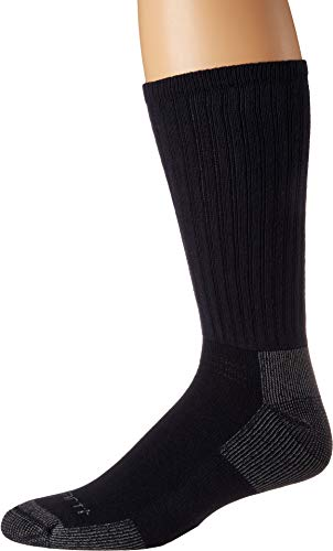 Carhartt Men's Cotton Crew Work Socks 3-Pack Navy -