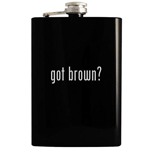 - got brown? - 8oz Hip Drinking Alcohol Flask, Black