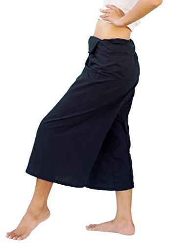 TREASURES OF THAILAND LIGHT COTTON 3/4 CAPRI THAI FISHERMAN PANTS ONE-SIZE by ''BestThaiComplex''