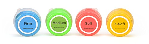 Premium-Quality-Therapy-Putty-4-Pack-3-oz-Each-for-Hand-Exercise-Variable-Resistance-Containers-for-Rehab-Therapy-and-Stress-Relief-by-Thera-FlintRehab