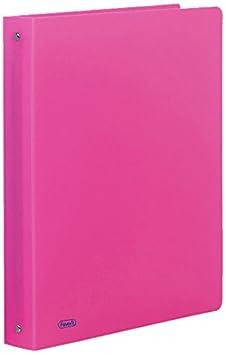 Favorit 400052715 Raccoglitore in Cartone Neon 22X30 cm 4 Anelli Tondi Diametro 30mm Arancio Fluo