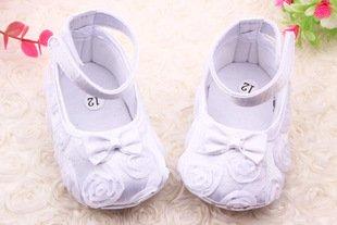 Liroyal para recién nacido bebé niña primera–Zapatos de Senderismo Blanco