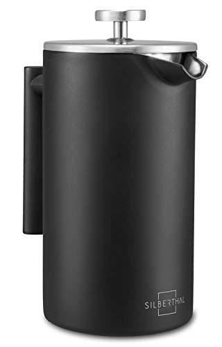 SILBERTHAL Cafetera émbolo acero inoxidable 1 litro | Mantiene el café Caliente | Cafetera francesa | Cafetera de piston…