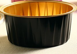 KEISEN 3 2/5'' mini Disposable Aluminum Foil Cups 125ml 100/PK 4OZ for Muffin Cupcake Baking Bake Utility Ramekin Cup (BLACK)