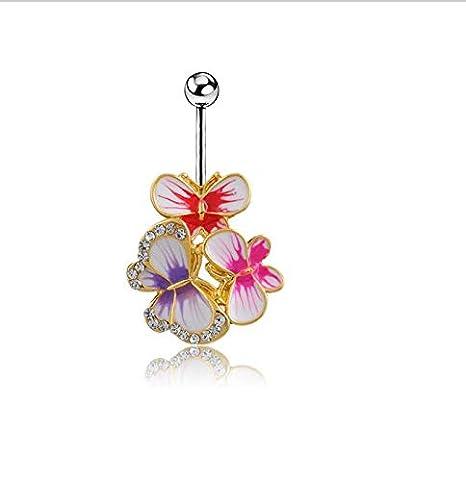 Amazon.com: Charming Body Piercing Jewelry Steel Umbilical ...
