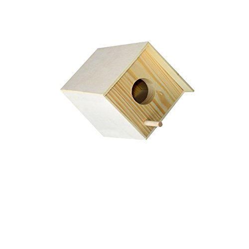 "Budgie bird and Love bird breeding nest wooden box, 6"" wi..."