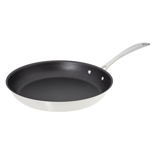 American Kitchen Cookware 12-inch Nonstick Frying Pan; PFOA Free; Tri-Ply Stainless Steel; Manufactured in USA
