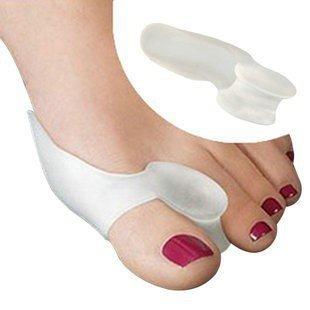 Toe Separators Gel Bunion Toe Spreader Toe Straightener Toe Spacers Toe Corrector Toe Stretchers Cushions   Gel Bunion Sleeve Cushion Protector Big Toe Separator Toe Spreader 2 Pcs