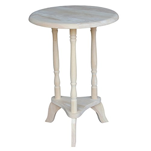 International Concepts OT-601 Round Plant Table, (Unfinished Wood Plant Stand)