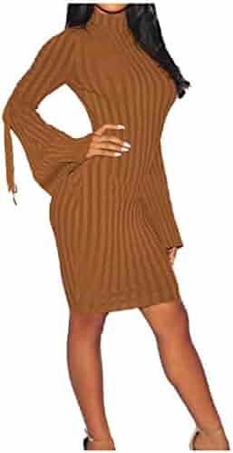 6eb197587538c RDHOPE-Women Round Neck Sexy Clubwear Bandage Long Sleeve Cocktail Dress