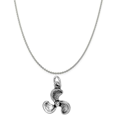 Raposa Elegance Sterling Silver Propeller Charm on a Sterling Silver 20