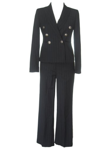 NINE WEST Double-Breasted 2-PC Jacket/Pants Suit-2P