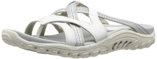 Skechers Women's Reggae-Soundstage Thong Sandal,White,10 M US