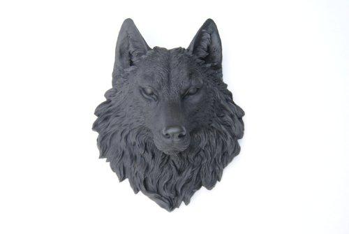 Wolf Head (Near and Deer Faux Taxidermy Wolf Head Wall Mount, Black)