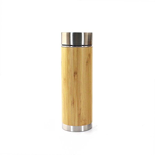 Bamboo Insulated Thermos with Removable Tea Infuser - 10oz