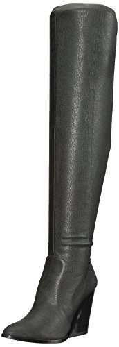 Calvin Klein Women's Catia Over The Knee Boot, Black Stretch Pebbled, 7 Medium US by Calvin Klein