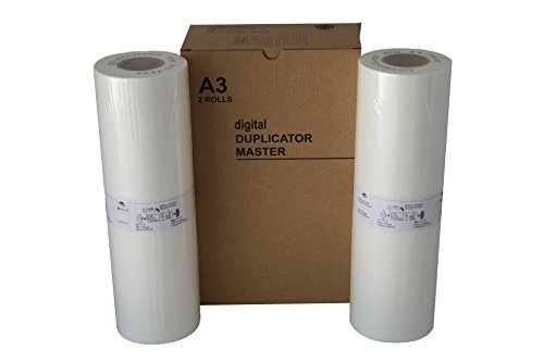 Compatible Master Risograph (2 Wholesale Widgets S-3550 A3 Masters, Compatible with Riso RP08 for use Risograph RP3700, and RP3790 Duplicators RISS3550C)