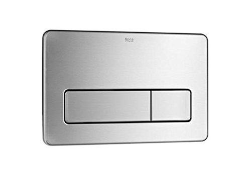 Roca A890097004 - Placa de accionamiento antivandá lica de acero inoxidable con descarga dual Roca; Baño