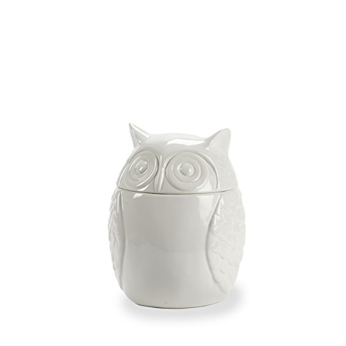 Abbott Collection Covered Owl Jar, 7-Inch, Medium