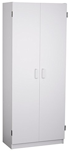 - System Build Flynn Wooden Storage Cabinet, White