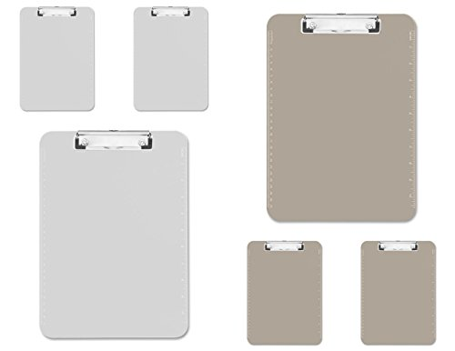 6 pack Transparent Plastic Clipboard 9X12x7