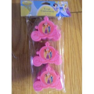 Disney Princess Treat Containers Party Favors - pack of 3 -