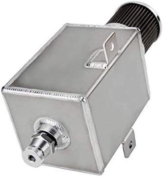 2L-Silver Templehorse Oil Catch Can Tank with Breather /& Drain Tap 2L Baffled Reservoir Tank Aluminum Silver