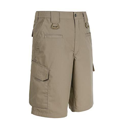LA Police Gear Men Elastic Waistband 8 Pocket Operator Tactical Shorts (28, Boulder) from LA Police Gear