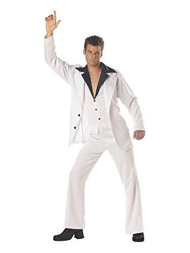 California Costumes Zoogster Costumes Men's Saturday Night Fever Costume, White, Medium (40-42) -