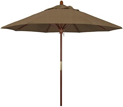 California Umbrella 9' Round Hardwood Frame Market Umbrella