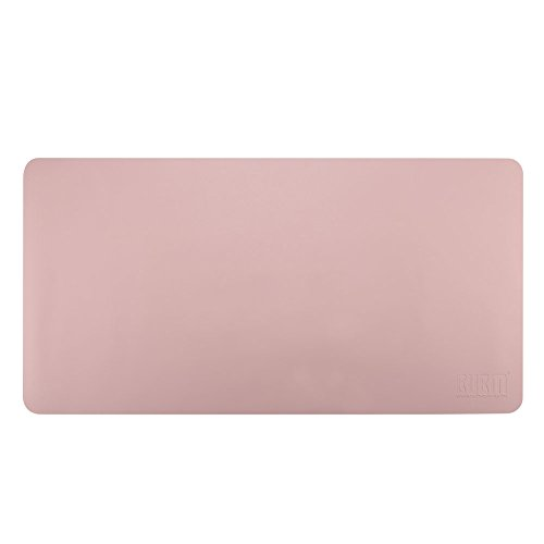 Desk Pad Mouse Pad/Mat - BUBM Large Gaming Mouse Pad Desktop Pad Protector PU Leather Laptop pad for Office and Home,Waterproof and Smooth,2 Year Warranty(35.4'' 17.7'', Pink+Silver) by BUBM (Image #8)'