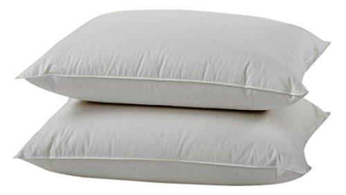 L'COZEE 100%コットンカバー フェザー&ダウン枕 ホワイト 2個 B075QN9VMS