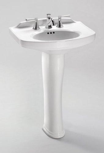 - Toto LPT642.8#11 Dartmouth Pedestal Lavatory, Colonial White
