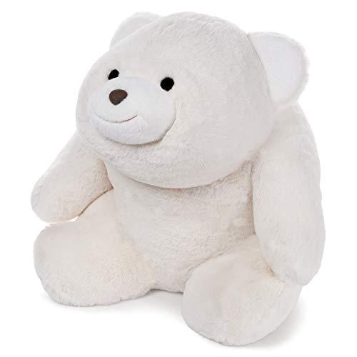 GUND Snuffles Teddy Bear Stuffed Animal Plush Polar Bear Extra Large, White, - Hugs Gund Bear