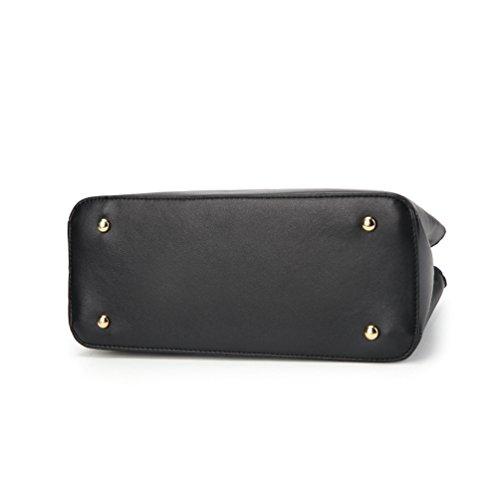 Handbag Messenger 2 Multifunction Shoulder Comfortable Durable Pcs Black Bag Zipper Zhiyuanan Sets Fashion Women Simple vF47xqIU