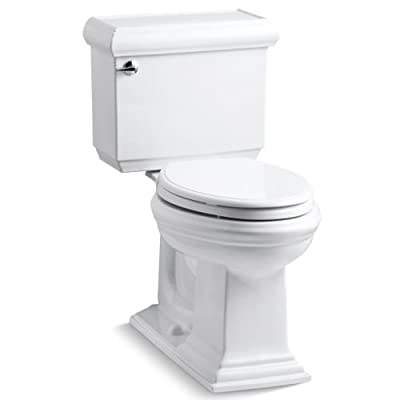 KOHLER Memoirs Comfort Height Two-Piece Elongated 1.6 gpf Toilet with Classic Design