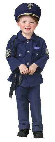 [Fun World Costumes Baby Boy's Complete Policeman Toddler Costume, Blue, Toddler Small(3T-4T)] (Policeman Boys Costume)