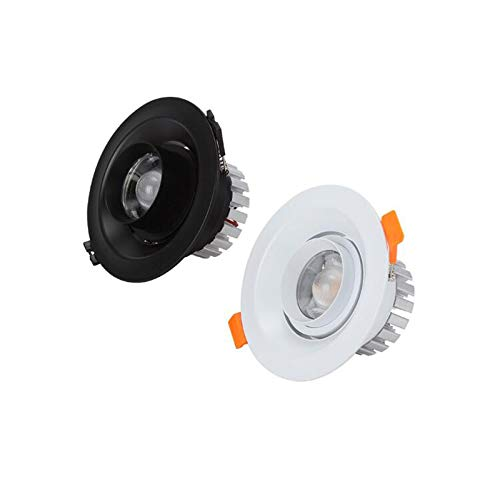 Schwarz Weißes Licht-20w CCGG Zoom-Strahler LED-Decke Stufenlos Einstellbar Stufenlos Einstellbarer Fokus Astigmatismus Fensterhintergrundwand Bullenlicht (Farbe   SCHWARZ, Stil   Weißes Licht-20w)