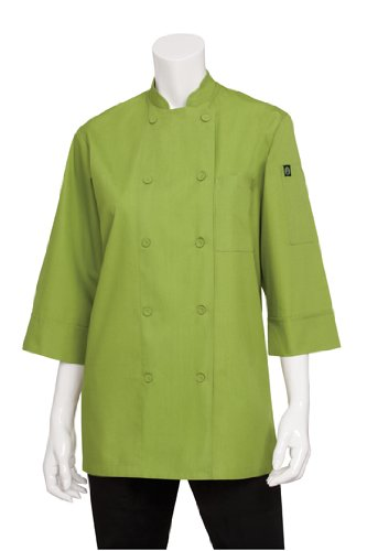 Chef Works Mens Morocco Short Sleeve Chef Coat, Lime, LARGE by Chef Works