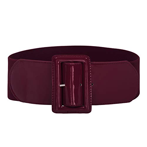 GRACE KARIN Women Stretchy Elastic Retro Dress Belt Wide Waist Cinch Belts