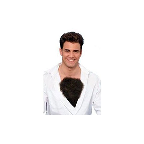 [Fake Chest Hair Hairy 80'S 70'S Theatrical Wig Brown Werewolf Powers Accessory] (Indian Wolf Headdress Costume)