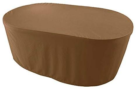 Gartentisch Abdeckung Oval.Amazon De Premium Abdeckplane Oval 160x120x75 Cm