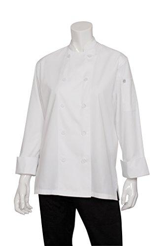 Chef Works Mens Sofia Chef Coat, White, Medium
