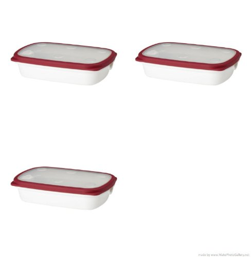 Ikea White/Red 365 + Food Containers -10x7x2
