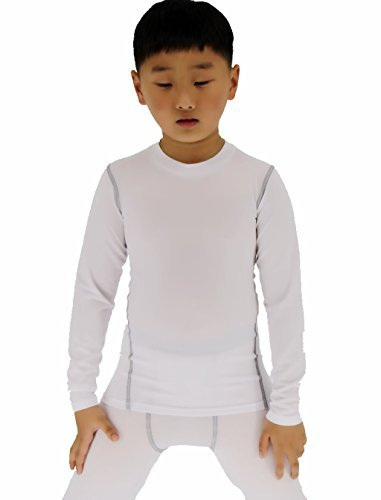 Sanke Boy's Long Sleeve Baselayer Quick Dry Compression Trianing T-Shirt (Compression Tee Fatigue Long Sleeve)