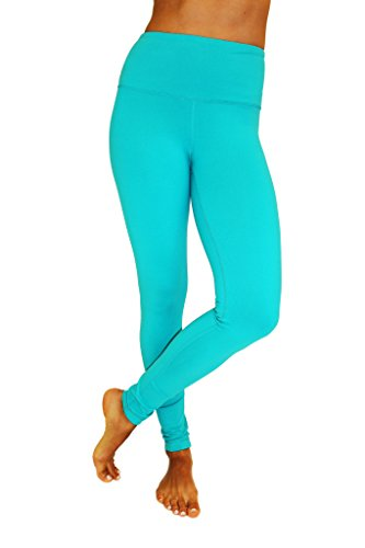 a12222d050 90 Degree By Reflex - High Waist Power Flex Legging - Tummy Control - Jade  XL
