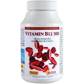Vitamin B12-500 360 Capsules by Andrew Lessman
