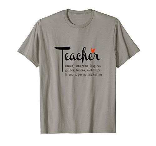 Teacher one who insprires, guides, listens TShirt (Guide To Learning The Knowledge Of London)