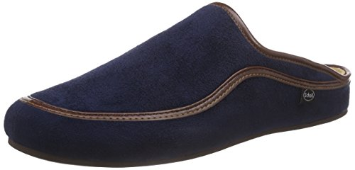 Scholl Brandy Navy Blue, Men Mules Blue (Navy Blue)