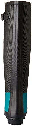 Hunter Women's Wmn Orig Ribbed Leg Gumboots Black / Turquoise cheap browse V5CxV06